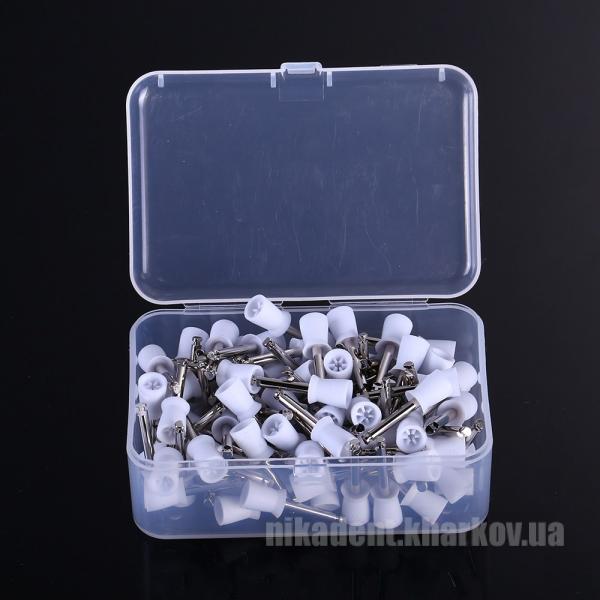 Фото Для стоматологических клиник, Полировочные системы Полировальная чашка резиновая с юбкой (Белая)