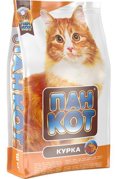 Сухой корм для кошек Пан Кот — Курка Полноценный сбалансированный корм на основе мяса курицы