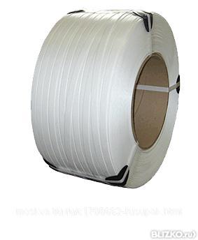Лента полипропиленовая белая для упаковки и обвязки груза 16х1, 0 мм