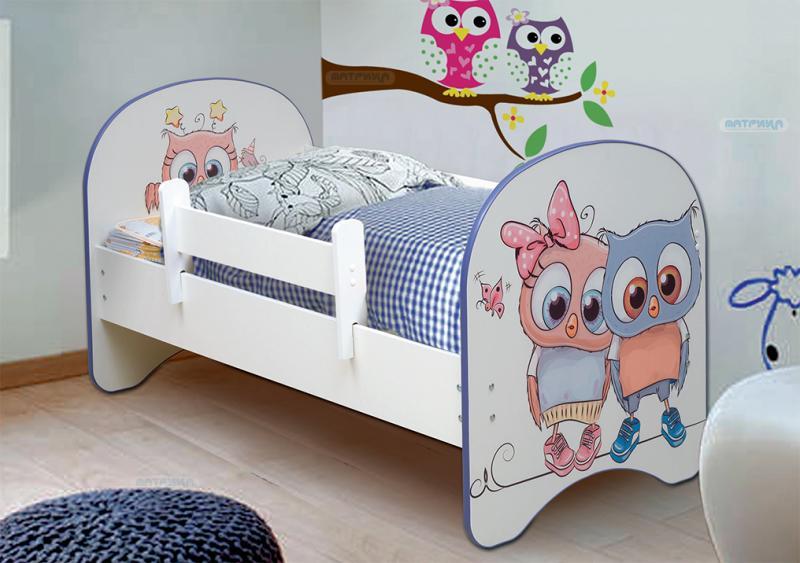 Фото Детская мебель Кровать детская Совята без ящика 1,4м, 1,6м, 1,9 м (Матрица)