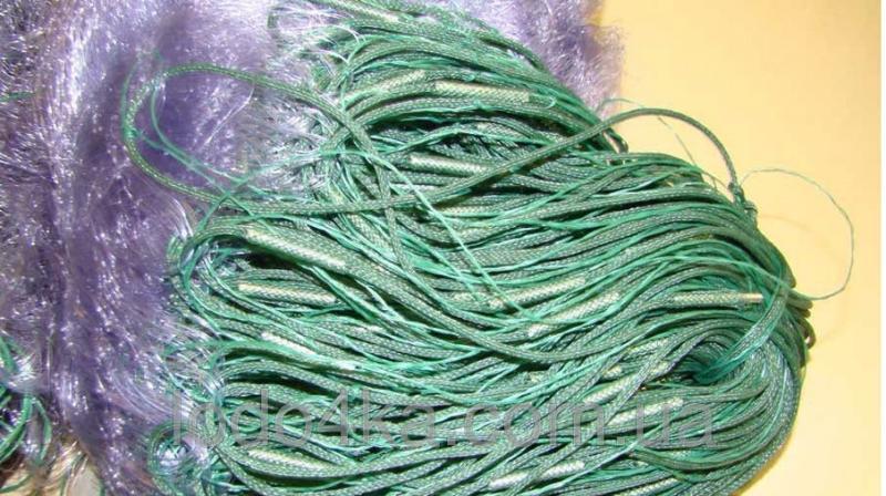 Фото Рыболовные сети; одностенки, трехстенки; экраны, финки;косынки, куклы; полотна; ятеря; раколовки, Сеть Рыболовная,одностенка - Груз вшитый (синяя) Ячейка 40