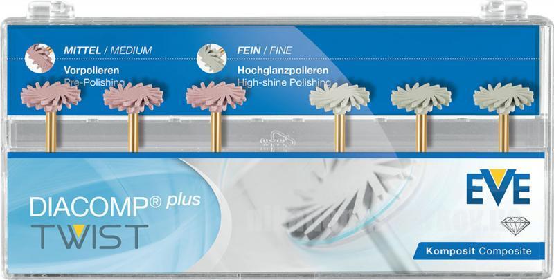 Фото Для стоматологических клиник, Полировочные системы Полир EVE Diacomp plus twist  Ø