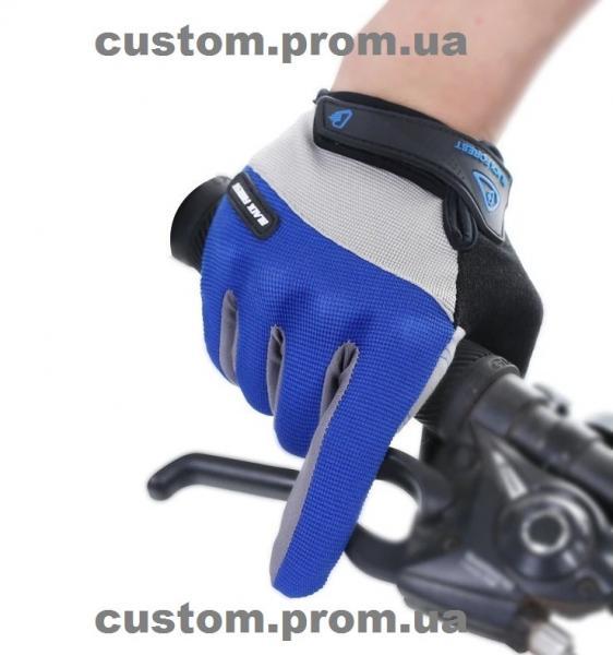 Перчатки мото вело (синие, черные, красные)