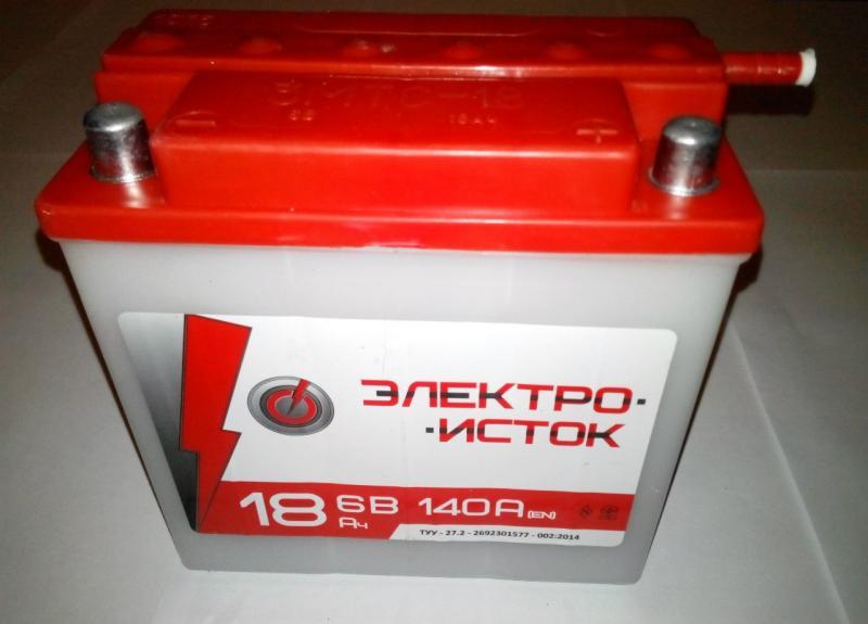 Аккумулятор 6V18a.h. Электроисток