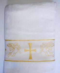 Фото Бодики, ползуны, кофты и штанишки (0-2 года) Полотенце для крещения