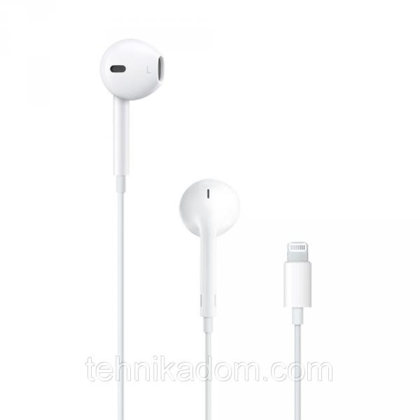 Наушники Apple EarPods Mic Lightning MMTN2ZM/A Белые (14107)