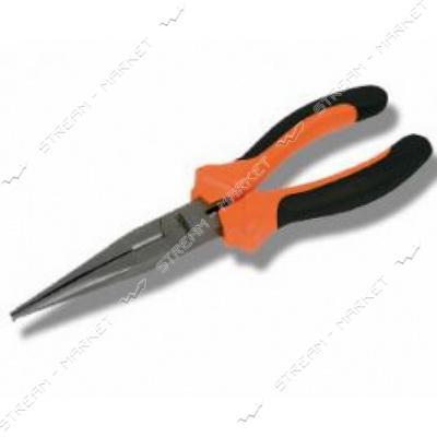 Miol 40-023 Плоскогубцы удлиненные прямые с комбинированой рукояткой 160 мм. Premium