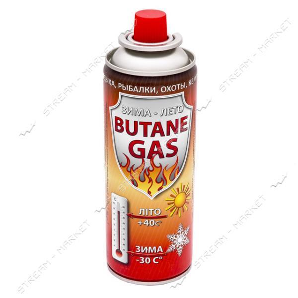 Газовый баллон для походной печки, цанговое соедин. ЗИМА-ЛЕТО 220г. (УКРАИНА) (GB-0002)