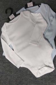 Фото Бодики, ползуны, кофты и штанишки (0-2 года) Бодики однотонные