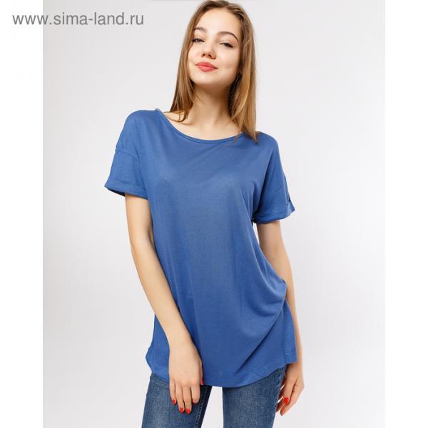 Туника женская 2908-8 (112419), цвет синий, размер 44 (S)