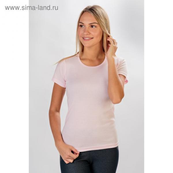 Футболка женская Рибана цвет розовый, р-р 54