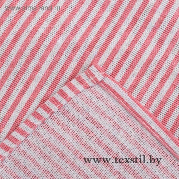 Фото Текстиль, Текстиль для кухни, Скатерти Скатерть Доляна 145х145см, Розовые полоски, 100%пэ, рогожка 200 гр/м