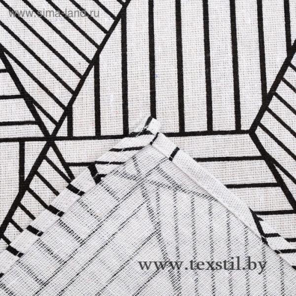 Фото Текстиль, Текстиль для кухни, Скатерти Скатерть Доляна 145х145см, Тренд бел, 100%пэ, рогожка 200 гр/м