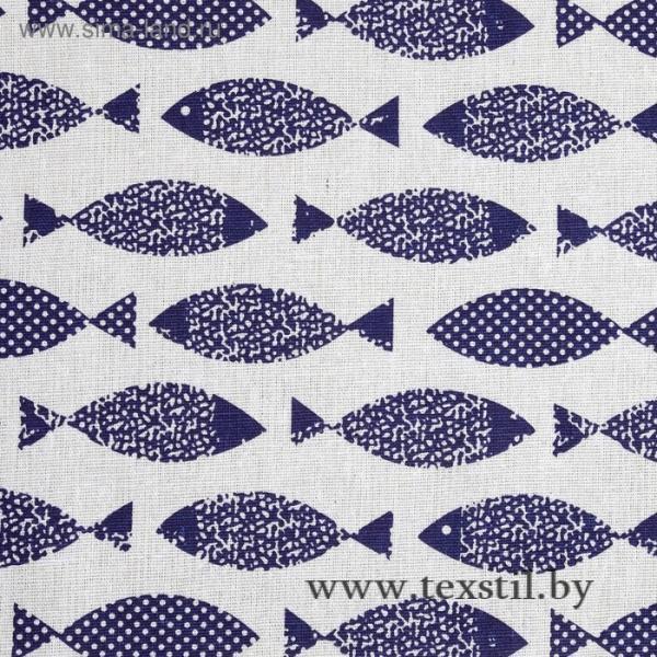 Фото Текстиль, Текстиль для кухни, Скатерти Скатерть Доляна 145х145см, Рыбка, 100%пэ, рогожка 200 гр/м