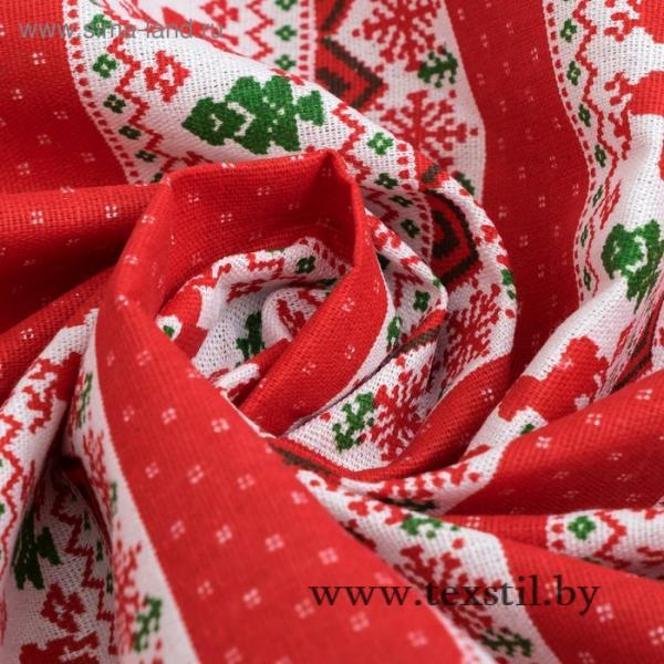 Фото Текстиль, Текстиль для кухни, Скатерти Скатерть Доляна 145х145см, Скандинавия красн, 100%пэ, рогожка 200 гр/м