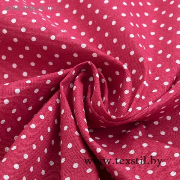 Фото Текстиль, Текстиль для кухни, Скатерти Скатерть Доляна 145х145см, Горох красн, 100%пэ, рогожка 200 гр/м