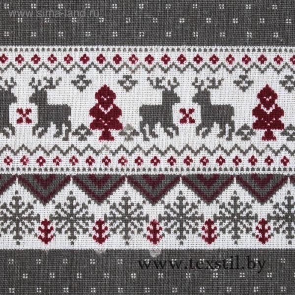 Фото Текстиль, Текстиль для кухни, Скатерти Скатерть Доляна 145х145см, Скандинавия сер, 100%пэ, рогожка 200 гр/м