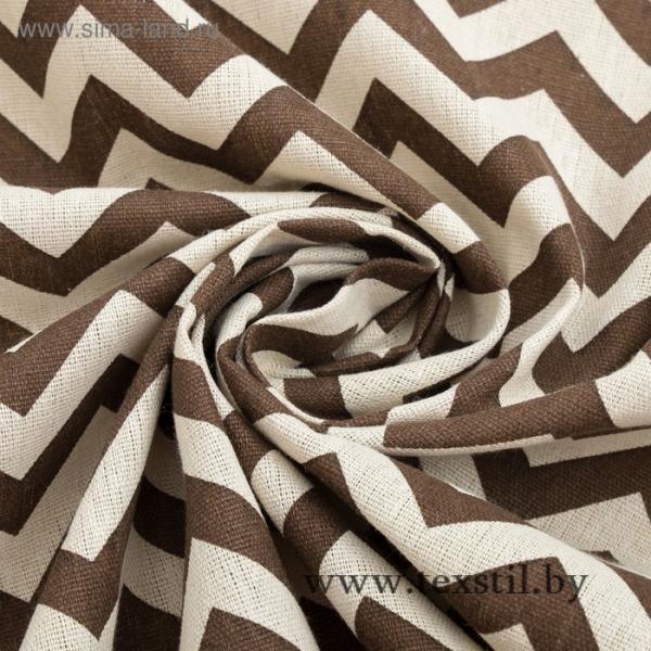 Фото Текстиль, Текстиль для кухни, Скатерти Скатерть Доляна 145х145см, Зигзаг коричневый, 100%пэ, рогожка 200 гр/м