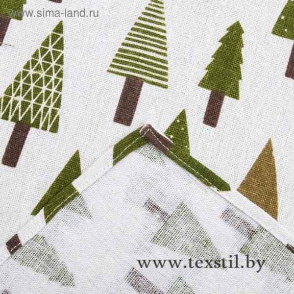 Фото Текстиль, Текстиль для кухни, Скатерти Скатерть Доляна 145х145см, Хвойный лес, 100%пэ, рогожка 200 гр/м