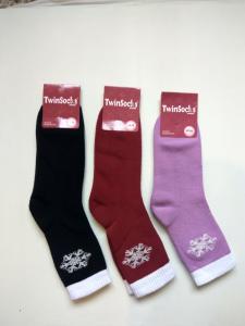 Фото Шкарпетки Twinsocks, Шкарпетки для дорослих махра Шкарпетки жіночі махра Крижинка