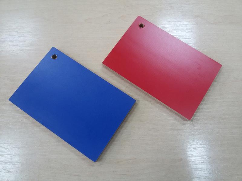 Синяя и красная ламинированная фанера 15х1250х2500 мм, Харьков, доставка