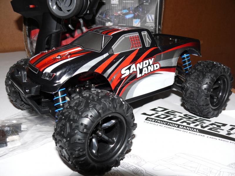 Машинка трагги PXtoys 9300, полный привод 4X4 , масштаб 1:18 , цвет красный с черным. 40 км/ч
