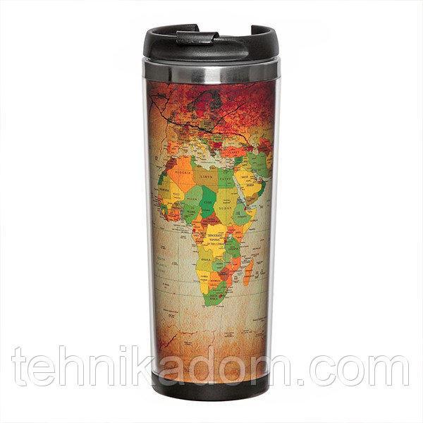 Термокружка 380 мл Карта мира (136-13112967)