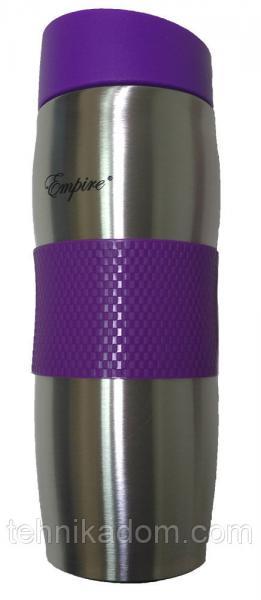 Вакуумная термокружка Empire EM-1517-1 380 мл Фиолетово-стальная (gr006835)