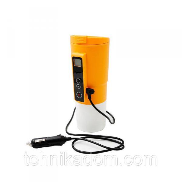 Автомобильная смарт-термокружка SUNROZ Smart Mug с подогревом и контролем температуры 380 мл Желтый (SUN1129)