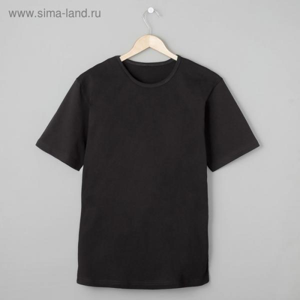 Футболка мужская БК-136 цвет чёрный, р-р 60
