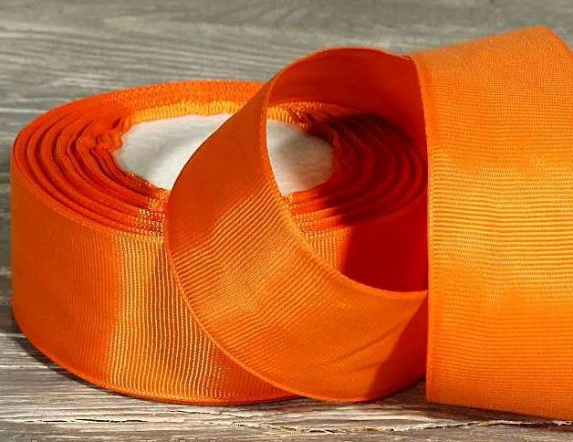 Лента  репсовая  4 см.   цвет  Оранжевый