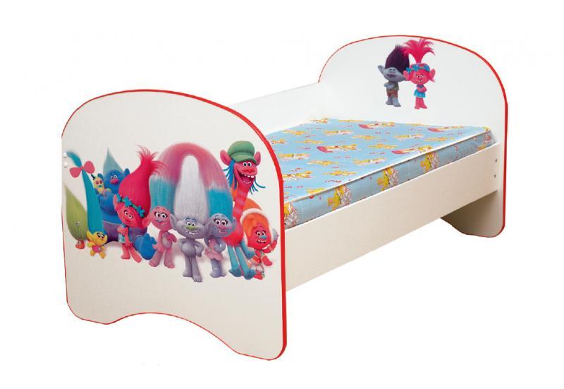 Фото Детская мебель Кровать детская Тролли без ящика 1,4м, 1,6м, 1,9 м (Матрица)