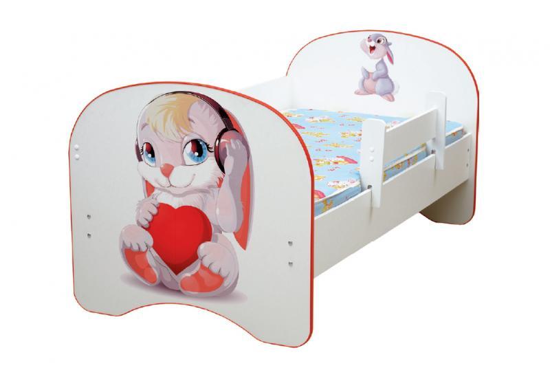 Фото Детская мебель Кровать детская Зайчата без ящика 1,4м, 1,6м, 1,9 м (Матрица)