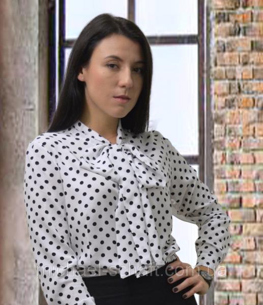 Фото Женские рубашки и блузы Блуза женская Michael Schaft с бантом и принтом