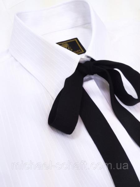 Рубашка женская Michael Schaft Белая с контрастным бантом M