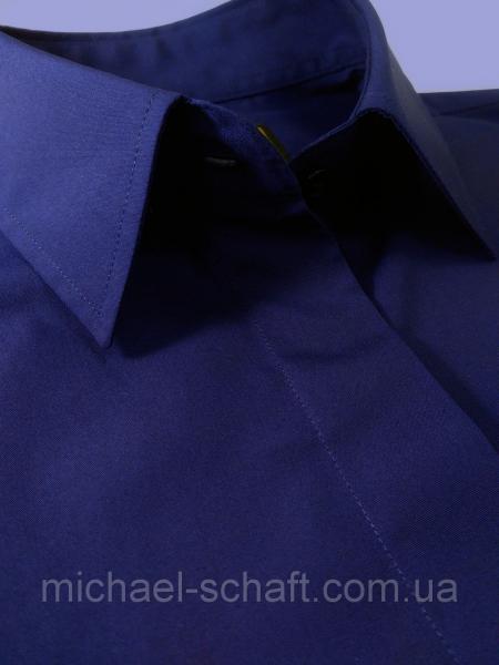 Рубашка женская Michael Schaft Темно-синяя классическая L