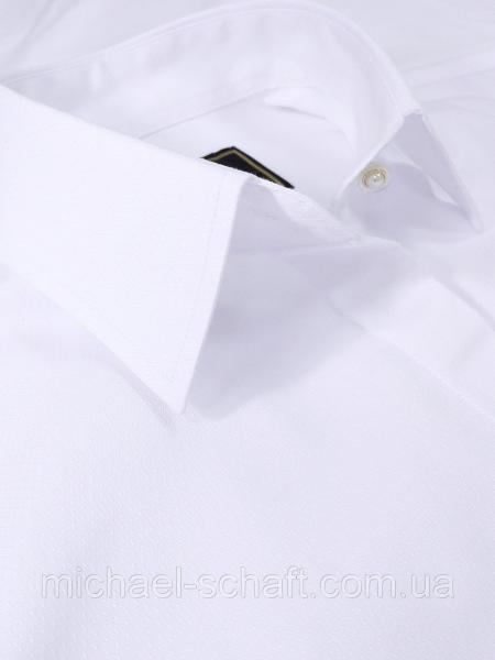"""Блуза женская Michael Schaft Белая классическая с рукавом """"волан"""" L"""