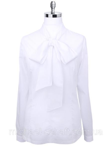 Блуза женская Michael Schaft Белая с бантом L
