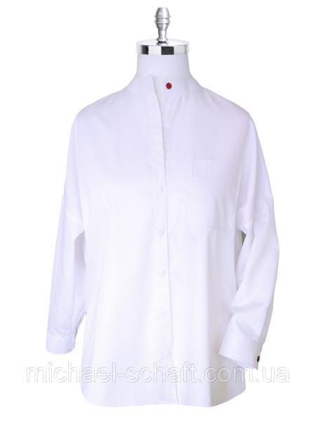 Рубашка женская Michael Schaft oversize белого цвета