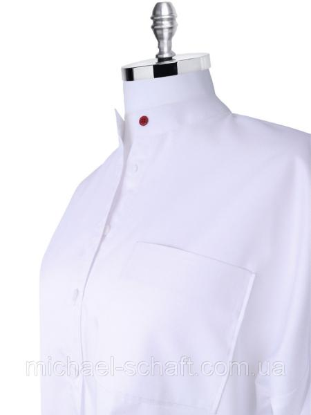 Фото Женские рубашки и блузы Рубашка женская Michael Schaft oversize белого цвета