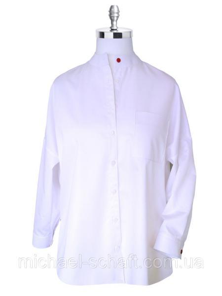 Рубашка женская Michael Schaft oversize белого цвета XL