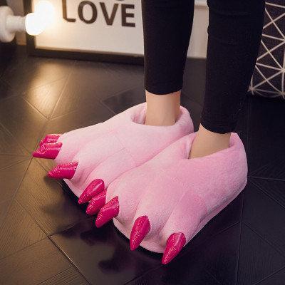 """Тапочки домашние женские """"Лапы с когтями"""" розовые размер 35-40"""