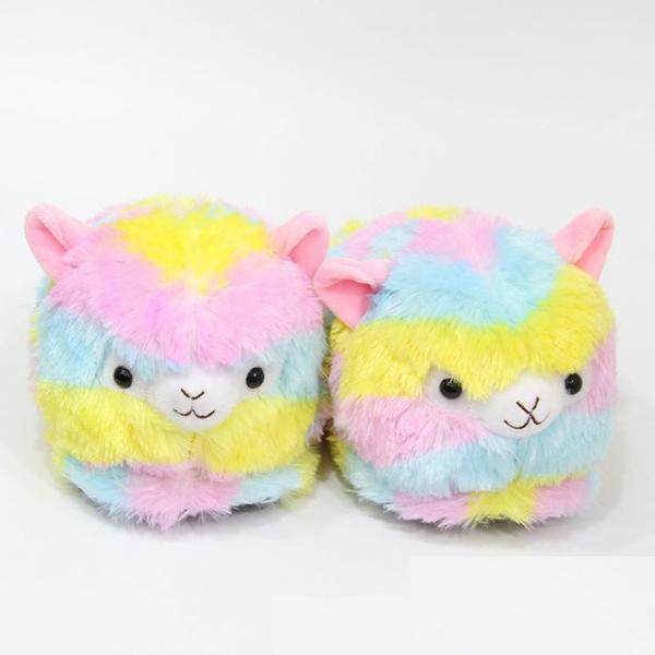 """Тапочки домашние женские """"Сказочная лама"""" разноцветные размер 35-40"""