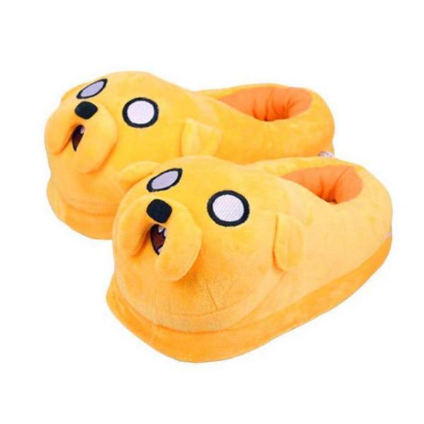 """Тапочки домашние женские """"Пес Джейк"""" желтые размер 35-40"""