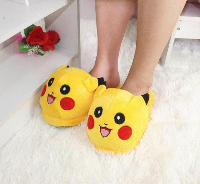 "Тапочки домашние женские ""Пикачу"" желтые размер 35-40"