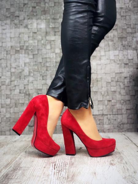 Шикарные замшевые туфли Lux Fashion. Украина