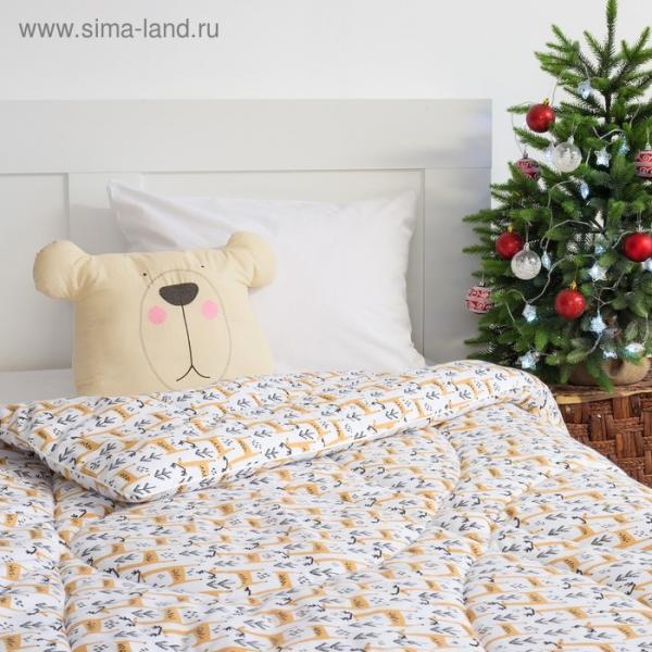 Одеяло 1,5 сп. «Этель» Олень, 140×205 см, 100% хлопок, фланель