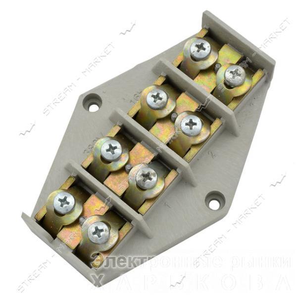 Клеммная колодка ромб 4х16 мм.кв - Элементы крепежа кабеля на рынке Барабашова