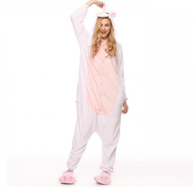 """Кигуруми (пижама-комбинезон) """"Единорог"""" белая размер S, M, L, XL"""