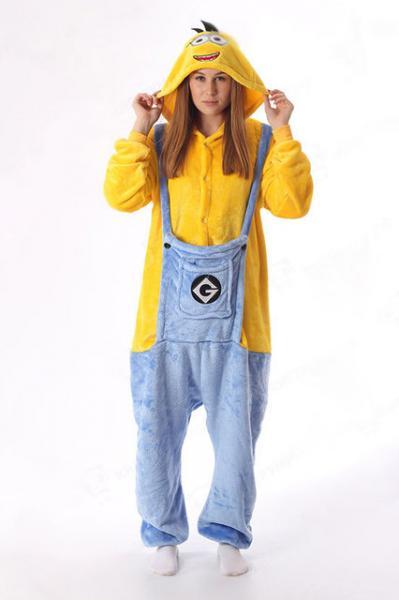 """Кигуруми (пижама-комбинезон) """"Гадкий Я. Миньон"""" желтая размер S, M, L, XL"""
